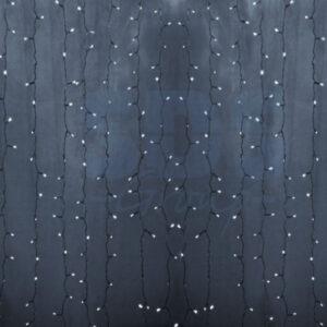 """235-105 Гирлянда """"Светодиодный Дождь"""" 2×0,8м, прозрачный провод, 230 В, диоды Белые, 160 LED"""