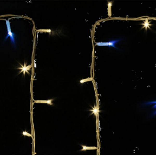 "315-186 Гирлянда модульная ""Дюраплей LED"" 20м 200 LED белый каучук , мерцающий ""Flashing"" (каждый 5-й диод), ТЕПЛЫЙ БЕЛЫЙ"