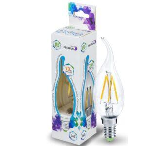 Лампа светодиодная LED-СВЕЧА на ветру-PREMIUM 5.0Вт 220В Е14 450Лм