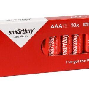 Батарейка алкалиновая Smartbuy LR03/10 box (10/800) (SBBA-3A10BX)