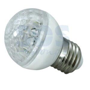405-615 Лампа шар e27 10 LED Ø50мм белая 24В
