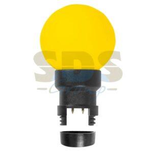 405-141 Лампа шар 6 LED для белт-лайта, цвет: Жёлтый, Ø45мм, жёлтая колба