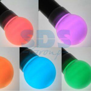 405-512 Лампа шар e27 9 LED Ø50мм RGB