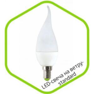 Лампа светодиодная LED-СВЕЧА НА ВЕТРУ-standard 3.5Вт 160-220В Е27 320Лм