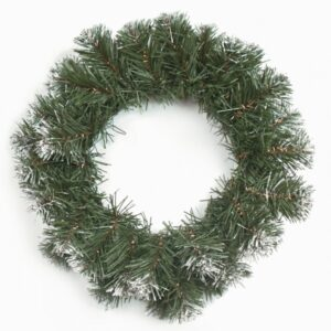Венок рождественский,с заснеженными кончиками,диам.35см.