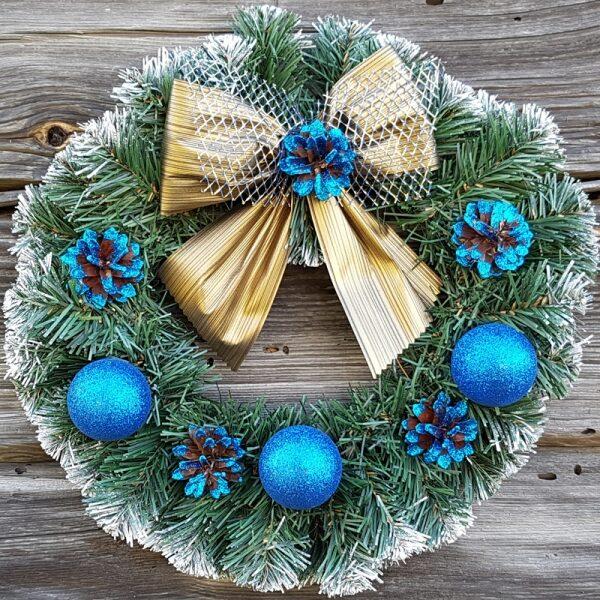 Венок рождественский,декор, диам.35см.