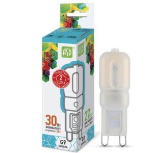 Лампа светодиодная LED-JCD-standard 3.0Вт 160-260В G9 270Лм