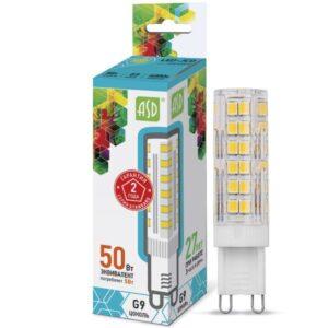 Лампа светодиодная LED-JCD-standard 5.0Вт 160-260В G9 450Лм