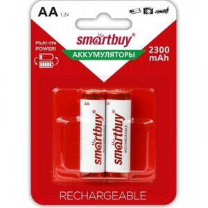 Аккумулятор NiMh Smartbuy AA/2BL 2300 mAh (24/240) (SBBR-2A02BL2300)