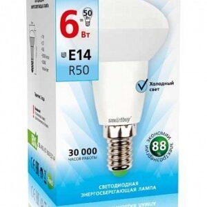 Лампа светодиодная LED-R50 6.0Вт 220В Е14 500Лм