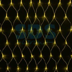 """215-041 Гирлянда """"Сеть"""" 2х1,5м, свечение с динамикой, прозрачный ПВХ, 288 LED, 230 В, цвет: Жёлтый"""