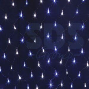 """215-022 Гирлянда """"Сеть"""" 2х1,5м, черный ПВХ, 288 LED Белые/Синие"""