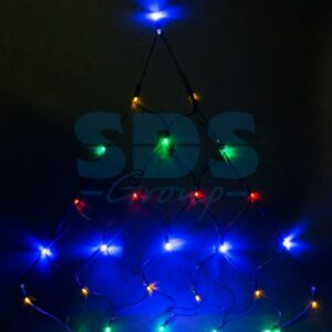 """215-009 Гирлянда """"Сеть"""" 2х2х1.5м, свечение с динамикой, черный ПВХ, 136 LED, 230 В, цвет: Мультиколор"""