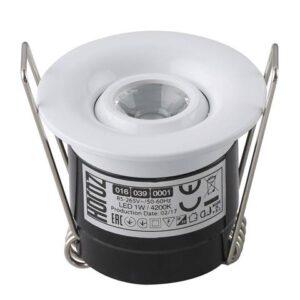 Светодиодный встраиваемый светильник 1Вт SILVIA