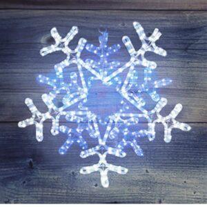 """501-531 Фигура световая """"Снежинка"""" цвет белая/синяя, размер 60*60 см, с контролером"""