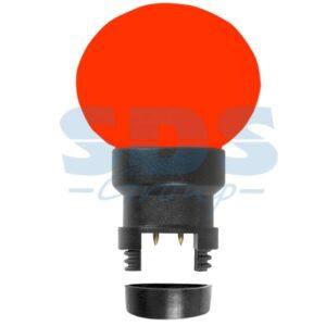 405-142 Лампа шар 6 LED для белт-лайта, цвет: Красный, Ø45мм, Красная колба