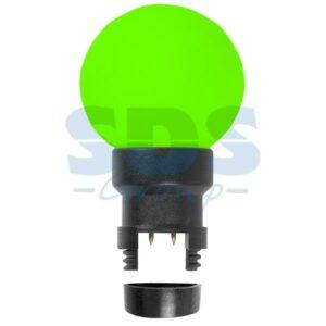 405-144 Лампа шар 6 LED для белт-лайта, цвет: Зелёный, Ø45мм, зелёная колба