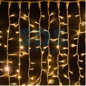 """237-316 Гирлянда """"Светодиодный Дождь"""" 2х1,5м, постоянное свечение, белый провод """"КАУЧУК"""", 230 В, диоды ТЕПЛЫЙ БЕЛЫЙ, 360 LED"""