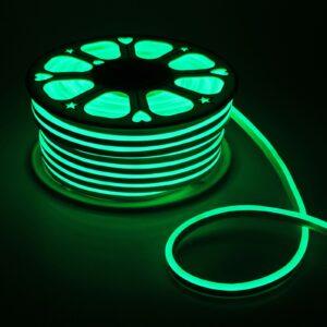 Гибкий неон, 8х16 мм, 50 м, LED/м-120-SMD2835-220V, ЗЕЛЕНЫЙ