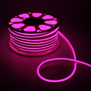 Гибкий неон, 8х16 мм, 50 м, LED/м-120-SMD2835-220V, РОЗОВЫЙ