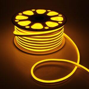 Гибкий неон, 8х16 мм, 50 м, LED/м-120-SMD2835-220V, ЖЕЛТЫЙ
