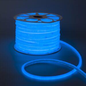 Гибкий неон круглый, D=10 мм, 50 м, LED/м-120-SMD2835-220V, СИНИЙ