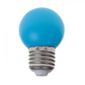 Лампа светодиодная декоративная Шарик d=40 мм, 6 led SMD, СИНИЙ