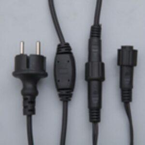 "Гирлянда ""Бахрома"" уличная, УМС, 3 х 0.6 м, 3W LED-160/50-220V, мерцание, нить тёмная, свечение белое"