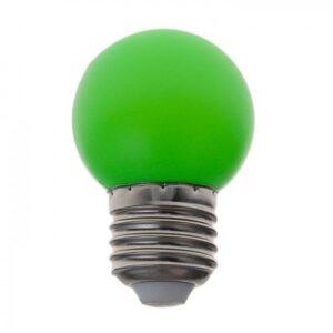 Лампа светодиодная декоративная Шарик d=40 мм, 6 led SMD, Зеленый